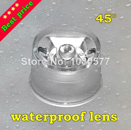 30pcs/lot Waterproof Optical PMMA LED Lens 45 Degree 20mm Transparent Surface For Spotlight Diodes Lens Holder Free Shipping