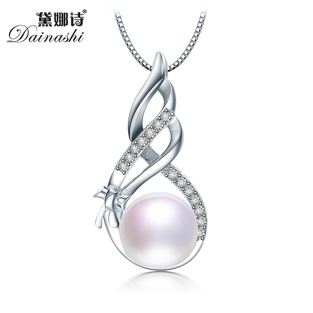 145d7db18351f US $8.8 45% OFF|hot sale genuine 100% real freshwater pearl pendant and  necklace for women gift, top quality AAAA white pink purple black golden-in  ...