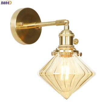 IWHD Vintage Nordic LED Wall Lamp Post Modern Wandlamp LED Edison Wall Light Industiral Vanity Light Applique Murale Luminaire