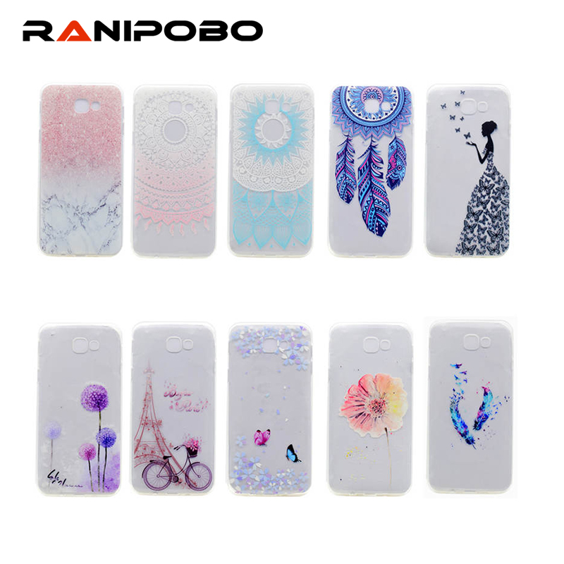 Beautiful Girl Painted Tpu Transparent Case Back Cover For