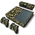 New Green Camouflage For xbox one controller skin 2pcs+ 1 console sticker camouflage style protective decal for x box one skin