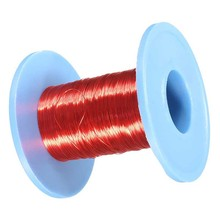 1 Roll Red Enameled Copper Wire 100m Magnet Wire 0.2mm QA Enameled Copper Wire Magnetic Relay Electric Machine Coil Winding 10pcs lot jaw tip accessories for df 6 electric machine scraping paint scraping paint enameled wire stripping lacquer