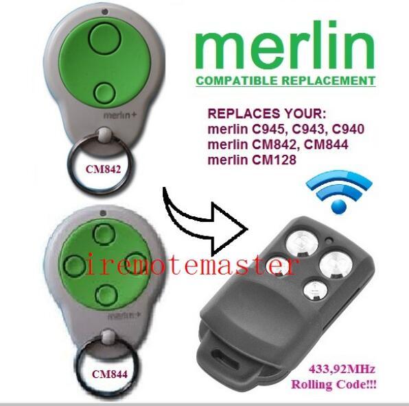 2 x Merlin C945 CM842 C940 C943 Compatible Garage//Gate Door Remote MR600 MR650