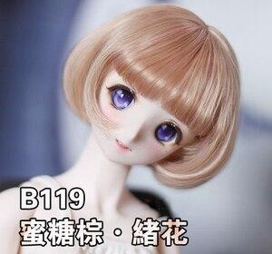 Image 2 - BJD pop haar pruiken Hoge temperatuur draad korte pruiken voor 1/3 1/4 1/6 BJD DD SD YOSD pop super zacht haar