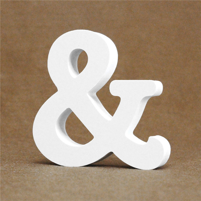 Diy Thick 12MM Wood Wooden Letters numbers White Alphabet Wedding Birthday Party Home Decorations Personalised Name Design 6