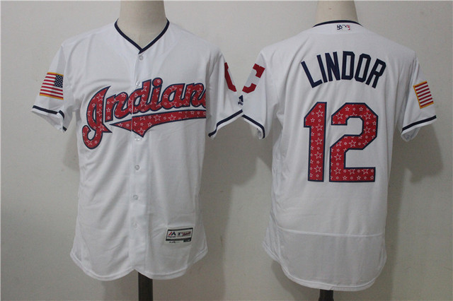 058c9f247 ... discount code for greece mlb mens cleveland indians 12 lindor home away  gray white player jersey