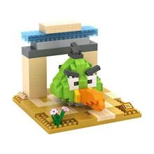 LOZ 9515 Bird Series Greenback Boomerang Green Diamond Bricks Minifigures Building Block Compatible with Legoe
