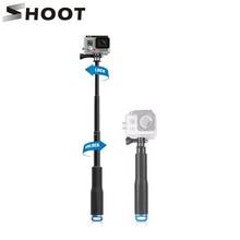 Стрелять 19-49 см Портативный палка для селфи продлить монопод для GoPro Hero 6 5 4 HERO5 сеанса Xiaomi Yi 4 К SJCAM SJ4000 Экен H9 Камера