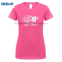 GILDAN 2018 Summer New Brand Women Casual Fitness Funny O Neck T Shirt I Create Beautiful