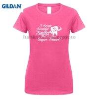 GILDAN 2018 Summer New Brand Women Casual Fitness Funny O Neck T Shirt I Create Beautiful