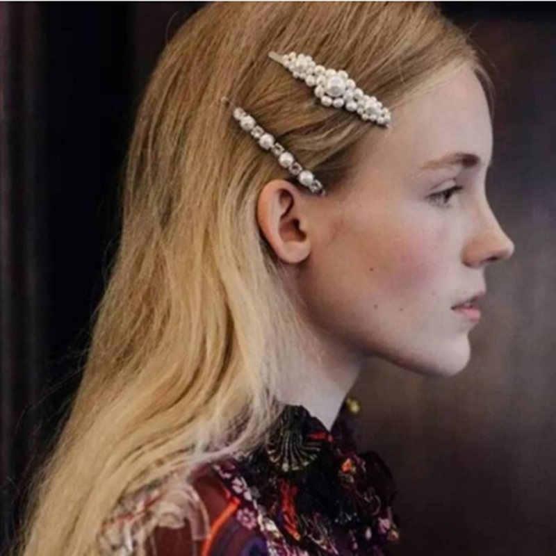 Ins Fashion 1Set Women Girls Elegant Pearl Hair Clips Sweet Headwear Hair Ornament Hairpins Barrettes Hairgrips Hair Accessories