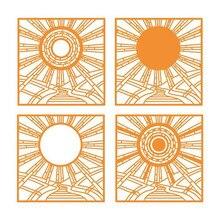 YaMinSanNiO Sunshine Background Dies Scrapbooking Metal Cutting New 2019 Frame Die Cuts for Card Making Craft Dies Embossing цена