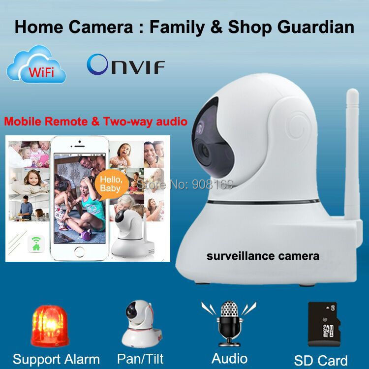 Aliexpress.com : Buy Best Wireless Ip Camera Wifi Home Alarm Baby Monitors  Pan/Tilt/ Night Vision Internet Surveillance Camera Built In Microphone  From ...