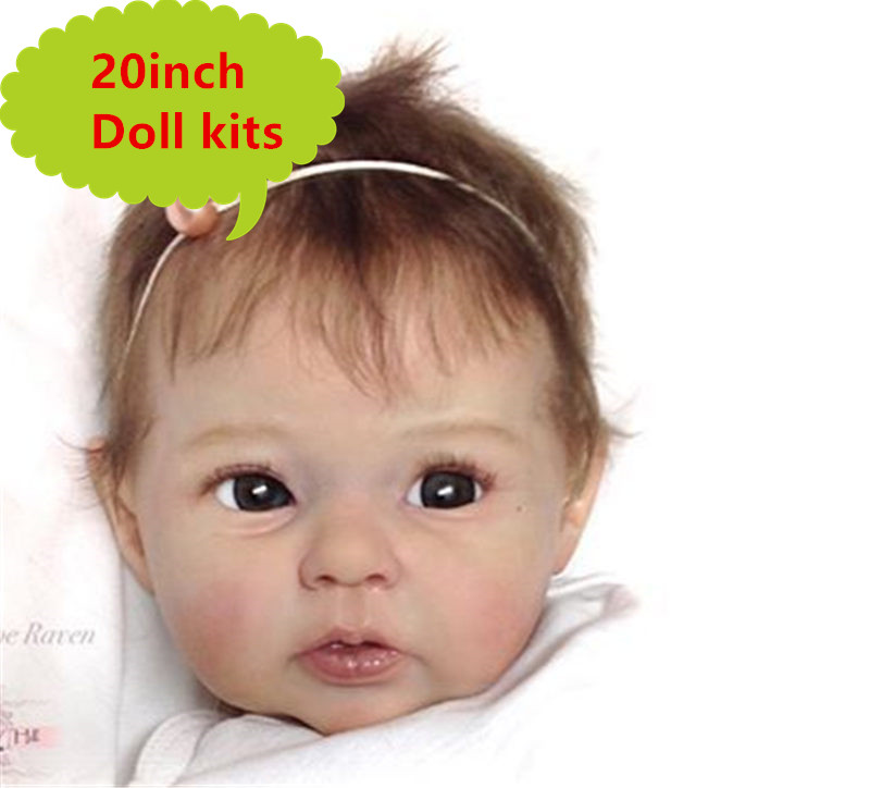 NPK 20'' Reborn Doll Kit Limited Edidtion Lifelike Soft Silicone Vinyl Real Gentle Touch Unpainted Doll Parts Doll Accessories