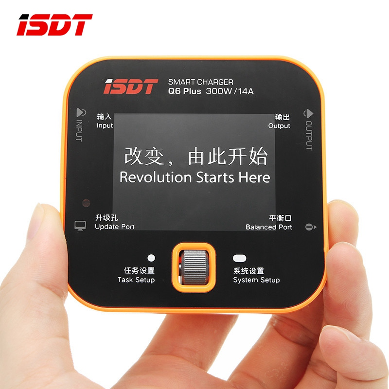 ISDT Q6 Plus 300W 14A MINI For Pocket Battery Balance Balancing Charger Orange for Rechargeable Lipo Battery RC Models Parts DIY