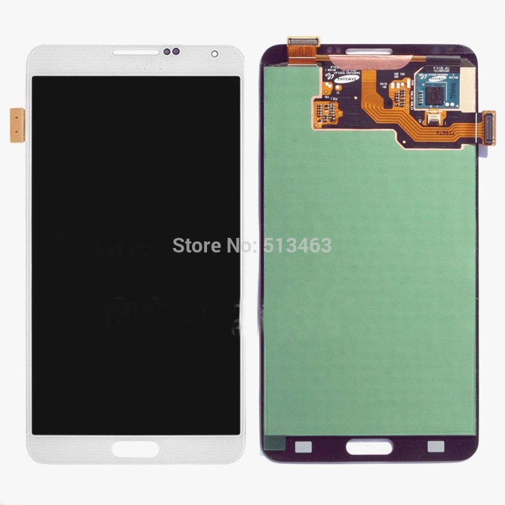 White For Samsung Galaxy Note 3 N9000 N9005 N900T LCD Display Touch Screen Digitizer Assembly Replacement Part