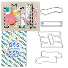 Julyarts Metal Craft Tag Cutting Dies Scrapbooking Cutter for Card Decoration Making Stencils