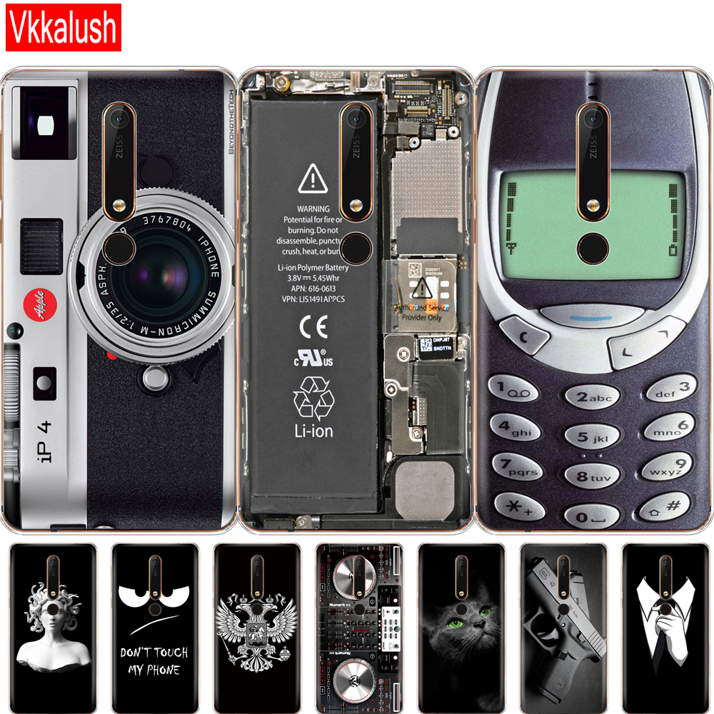 Silicon Back <font><b>Case</b></font> For <font><b>Nokia</b></font> 6 6.1 7 Plus 8 9 <font><b>Nokia</b></font> 6 <font><b>2018</b></font> X5 X6 <font><b>Case</b></font> Soft TPU Phone Back Cover Coque Bumper protective shell image
