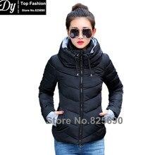 New Wadded Winter Jacket Women Cotton Short Jacket Fashion 2016 Girls Padded Slim Plus Size Hooded Parkas Stand Collar Coat