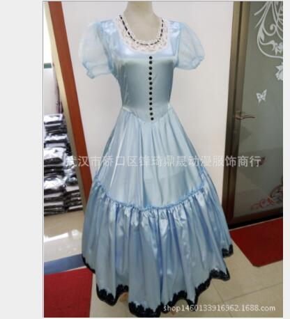 Free Shipping Newest Alice in Wonderland Costume Cosplay Alice Costume Dress wonderful For Women Halloween Party Costumes Rated