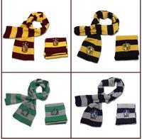 Magic School Harry Potter Cosplay Costume Winter Neckerchief Gryffindor Slytherin Ravenclaw Hufflepuff Cosplay Scarf