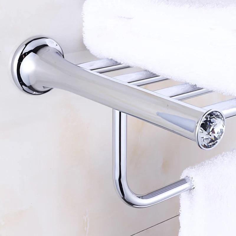 Crystal Titanium chrome Plating Towel Rack,towel Shelf with Bar ...