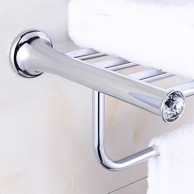 Crystal Titanium verchromen Handdoekenrek, handdoek Plank met Bar ...