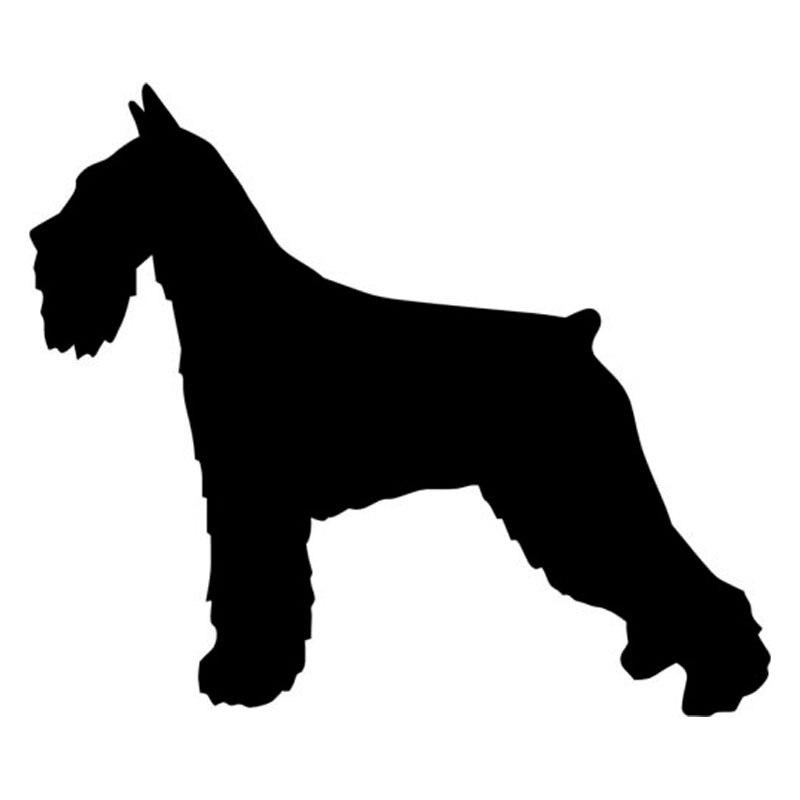 13.2*11.2CM Standard Schnauzer Dog Vinyl Decal Funny Car Stickers Truck Car Styling Decoration  Black/Silver S1-0400