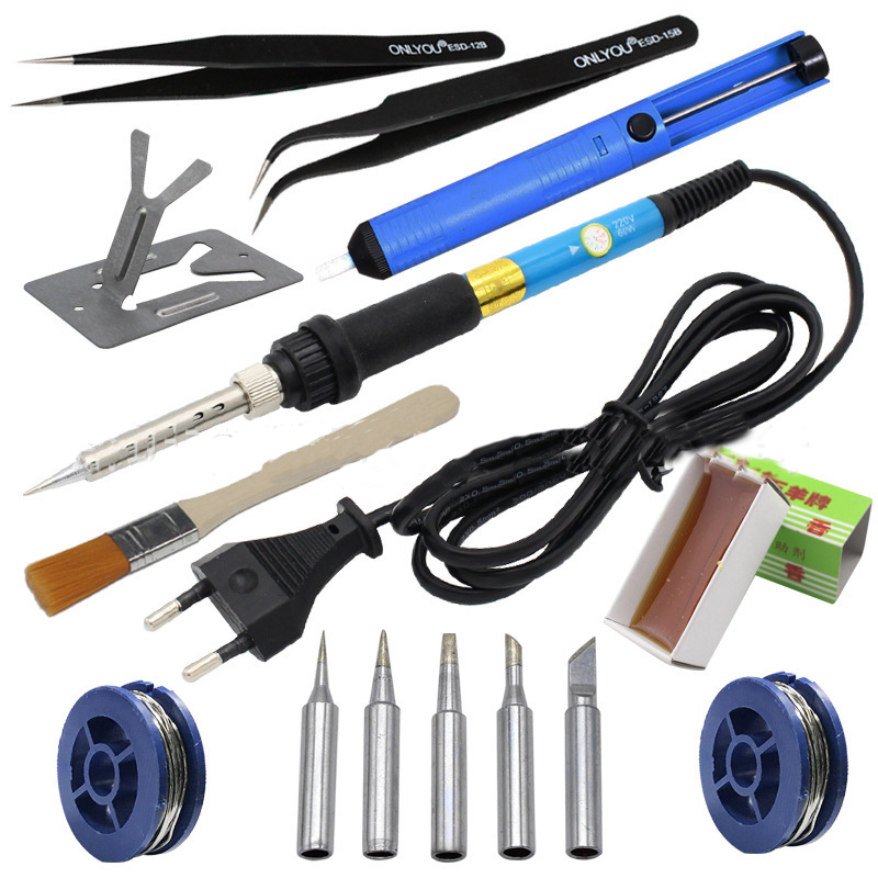 60w Adjustable Temperature Electric Soldering Iron Set Welding Solder Station Heat Pencil Repair Tool Kit  Air Soldering Station