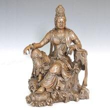 ATLIE BRONZES Chinese bronze homelike guanyin Buddha Statues Religious figure Avalokitesvara Goddess of Mercy