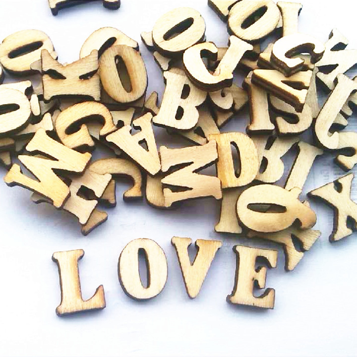 fashon english letters wedding wood crafts wooden letters number marking frame wall decor home decoration wedding