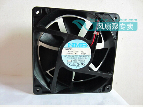 New original NMB 4715KL-05T-B50 24V 0.65A 12CM 12038 120*120*38MM inverter fan new and original 12cm 4715kl 04w b50 12038 1 3a double row ball bearing cooling fan for nmb 120 120 38mm