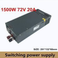 1500W Switching Power Supply 72V 20A Driver Transformer 110V OR 220V AC to DC72V SMPS for Stepper CNC CCTV 3D Printer