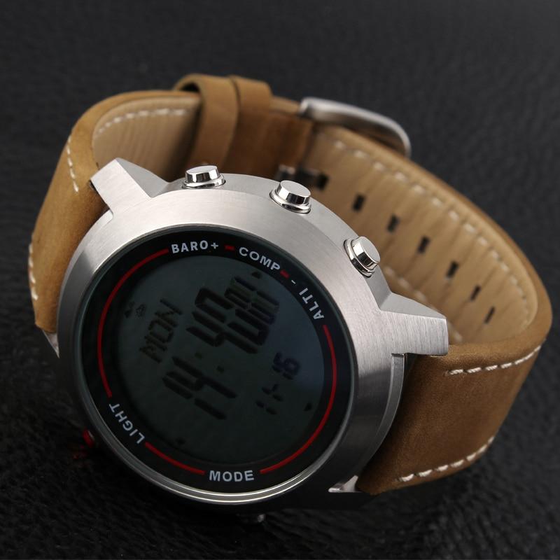 CAINO hommes sport montres numériques boussole altimètre baromètre bande de cuir mode montres d'extérieur horloge Relogio Masculino - 4