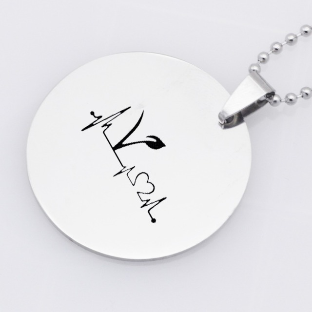Vegan Symbol Patterned Jewelry