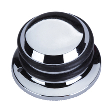 Silver Tone Metal Guitar Knob Chrome Plated Metal PUSH-ON Hat Control Knob For Electric Guitar Bass Replacement Parts ea14 guitar pickup b500k push pull control pot potentiometer for electric guitar bass
