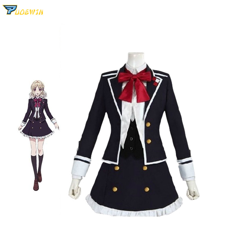 Anime DIABOLIK LOVERS Yui Komori Cosplay Costume School Uniform
