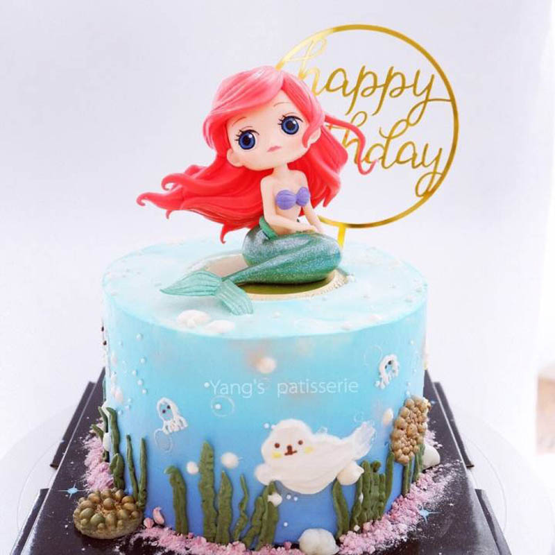 Mermaid Snow White Little Princess Cake Toppers Girls Birthday Cake