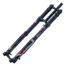 Бесплатная доставка электрический велосипед передняя вилка DNM USD-8 Электрический горный велосипед пневматическая подвеска передние вилки