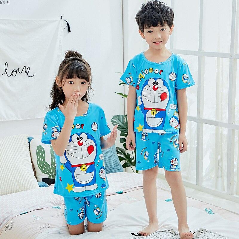 Pajamas Suit for Kids Cartoon Cute Children Pijamas Short Sleeve Summer Girls Sleepwear Baby Pyjamas Set Boys Sleepwear