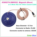 New Arrival KINNUOTA BMW303 Color Blue MAGNETIC MOUNT SO239 with 5 Meter TEFLON RG-316 Coaxial Cable PL259