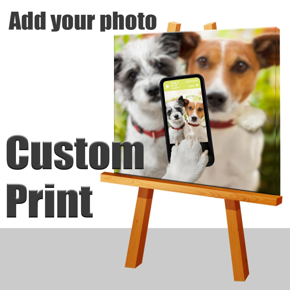 Your Picture,family Friends Baby Or Selfie Photo,favorite Image Custom Print On Canvas Hot Sale New Painting Home Decoration