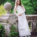Fashion White Lace Kid Evening Gown First Communion Dresses for Girls Long Sleeve Flower Girl Dresses for Weddings Vestido Largo