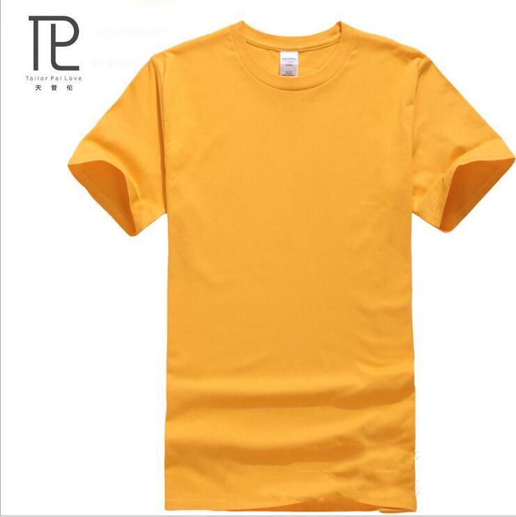 Új márka-ruházati nyár Nyár férfi póló rövid ujjú tömör szín 100% pamut póló Alkalmi laza férfi ing Pólók # B0