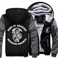 Dropshipping USA Sons of Anarchy Unisex Sweatshirt Zipper Fleece Winter Hoodies Jacket custom made Jacket Coats