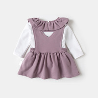 Children Girls Clothing Set 2017 Winter Cute Baby Girl Clothes Long Sleeve T Shirt + Cotton Dress 2 Piece Fashion Suits 18M 5y