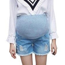 cc9cbe0461680 الجينز الأمومة السراويل ل الحوامل ملابس حريمي الحمل السراويل مرونة البطن  الجينز الدعامة البطن Gravidas السراويل