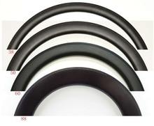 700C 30/38/45/50/60/88mm depth 25mm Width full Carbon bike rims Clincher/Tubular Road bike single Rim 3k/UD matte finish