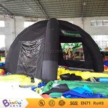 Черные надувные палатки паук палатка с 2 прозрачные окна, 4 ноги, W4XL4m 13Ft. игрушка палатка