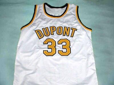 #33 Джейсон Уильямс Dupont школы Белый Баскетбол Джерси Вышивка сшитые на заказ любой номер и имя